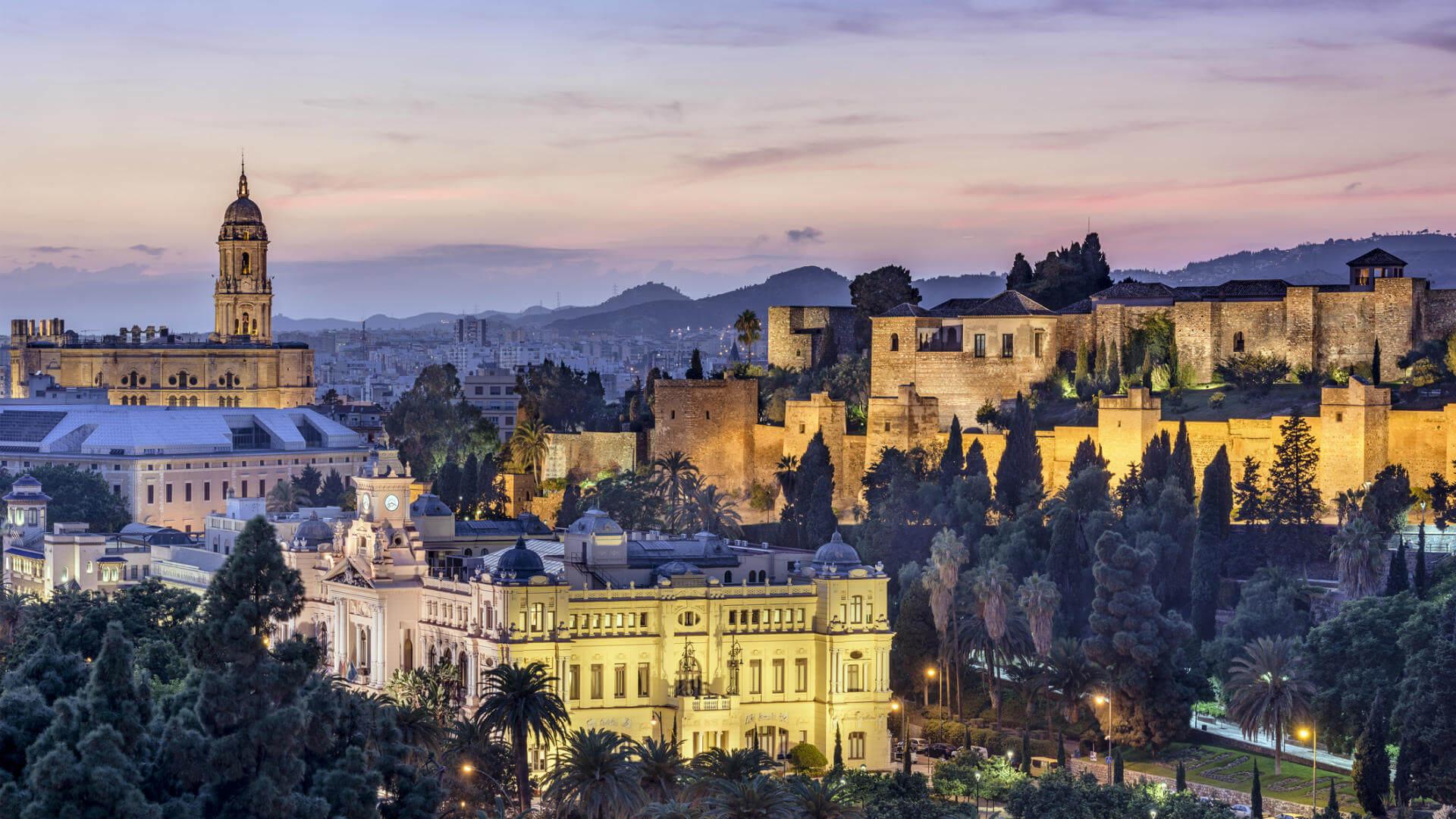 Vista panoramica dell'Alcazar di Malaga